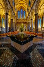 Salisbury Cathedral Font by Anne Nagle